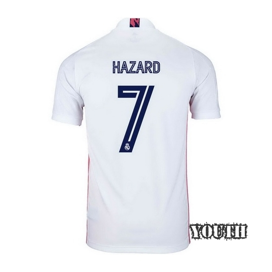 2020/2021 Eden Hazard Real Madrid Home Youth Soccer Jersey