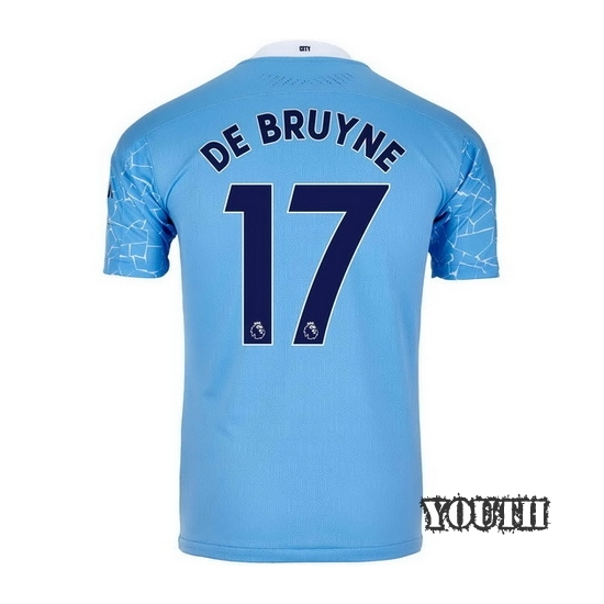 2020/2021 Kevin De Bruyne Manchester City Home Youth Soccer Jersey