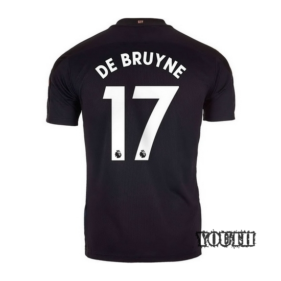 2020/21 Kevin De Bruyne Manchester City Away Youth Soccer Jersey