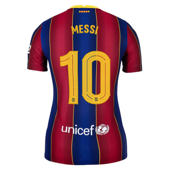 20/21 Lionel Messi Barcelona Home Women's Soccer Jersey