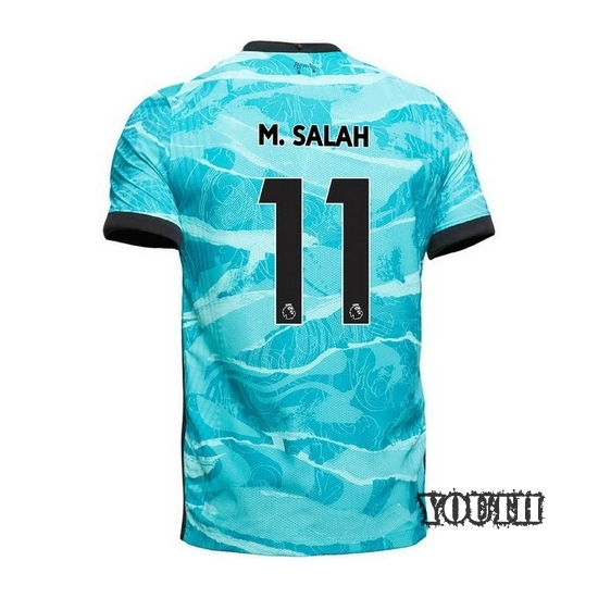2020/21 Mohamed Salah Liverpool Away Youth Soccer Jersey