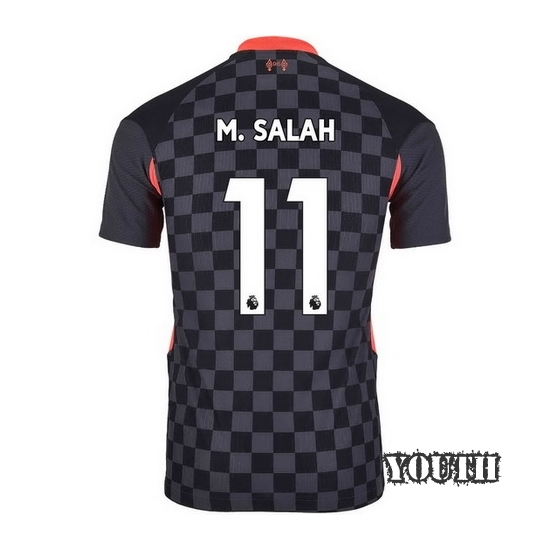 20/21 Mohamed Salah Liverpool Third Youth Soccer Jersey