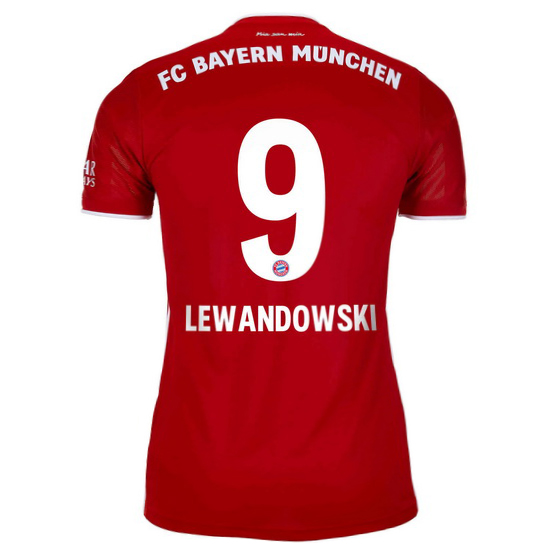 20/21 Robert Lewandowski Bayern Munich Home Women's Soccer Jersey