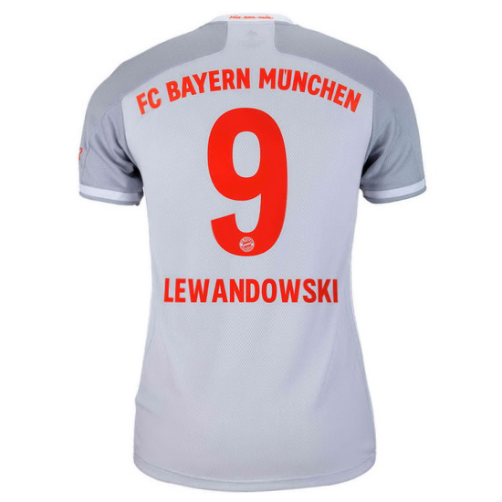 2020/2021 Robert Lewandowski Bayern Munich Away Women's Soccer Jersey