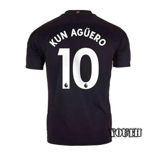 2020/21 Sergio Aguero Manchester City Away Youth Soccer Jersey