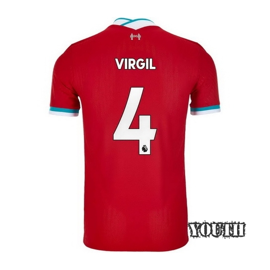 2020/2021 Virgil Van Dijk Liverpool Home Youth Soccer Jersey