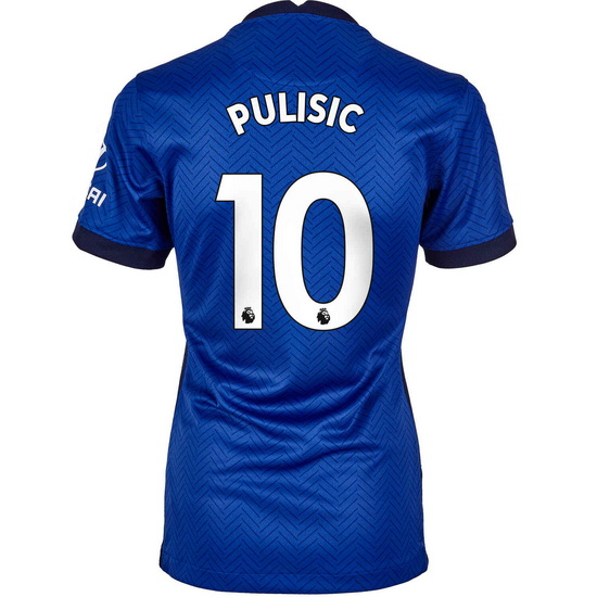 20/21 Christian Pulisic Chelsea Home Women's Soccer Jersey