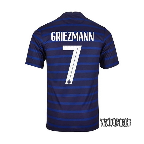2020 Antoine Griezmann France Home Youth Soccer Jersey