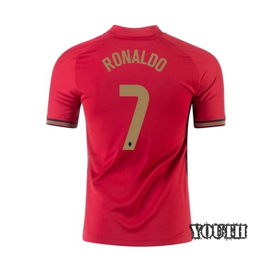 2020 Cristiano Ronaldo Portugal Home Youth Soccer Jersey