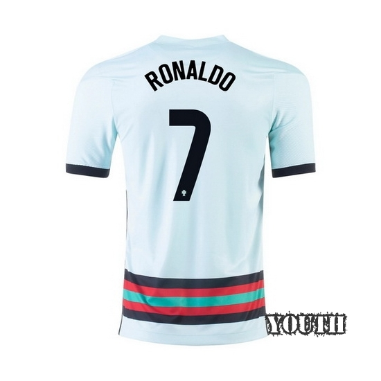 2020 Cristiano Ronaldo Portugal Away Youth Soccer Jersey