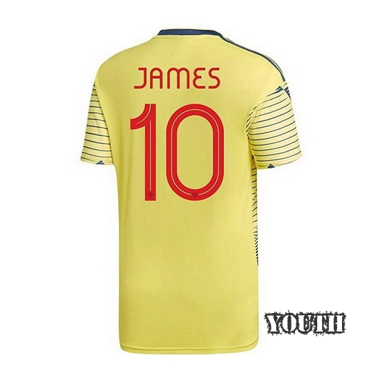 2020 James Rodriguez Colombia Home Youth Soccer Jersey