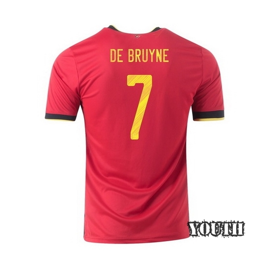 2020 Kevin De Bruyne Belgium Away Youth Soccer Jersey