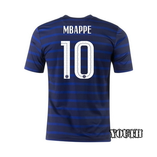 2020 Kylian Mbappe France Home Youth Soccer Jersey