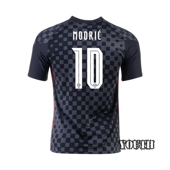 2020 Luka Modric Croatia Away Youth Soccer Jersey