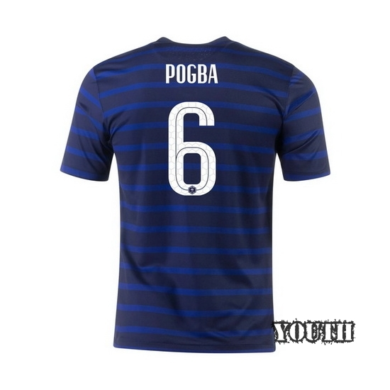 2020 Paul Pogba France Home Youth Soccer Jersey
