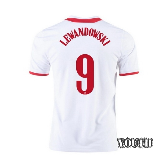 2020 Robert Lewandowski Poland Home Youth Soccer Jersey