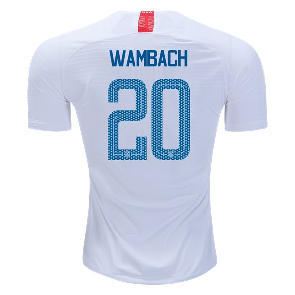 Home Abby Wambach 2018/2019 USA Authentic Men's Stadium Jersey