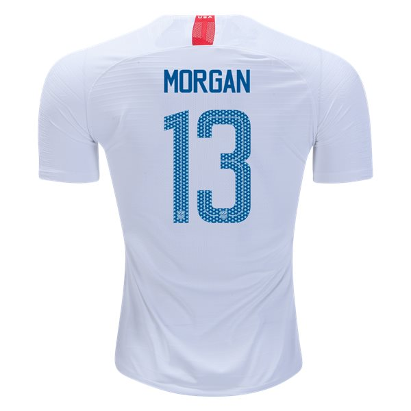 Home Alex Morgan 2018/19 USA Authentic Men's Stadium Jersey