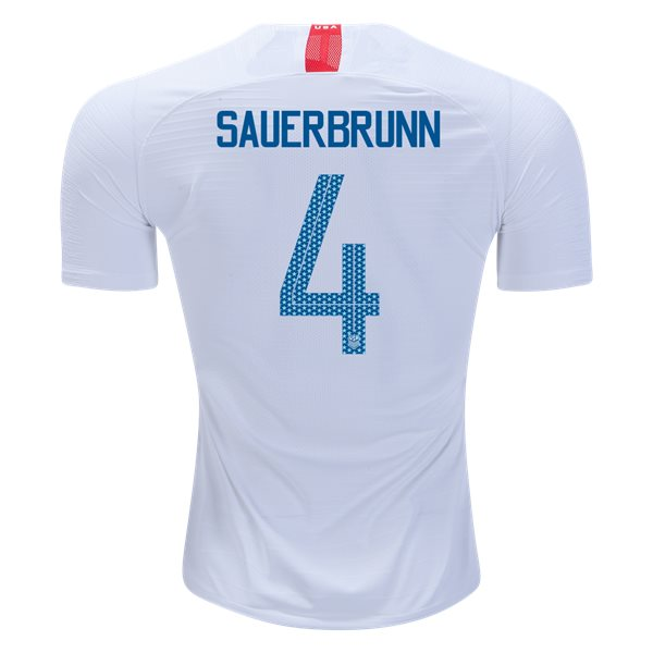 Home Becky Sauerbrunn 2018/19 USA Authentic Men's Stadium Jersey