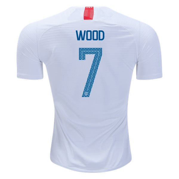 Home Bobby Wood 2018 USA Authentic Men's Stadium Jersey