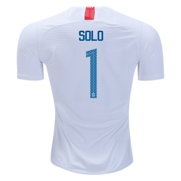Home Hope Solo 2018/19 USA Authentic Men's Stadium Jersey