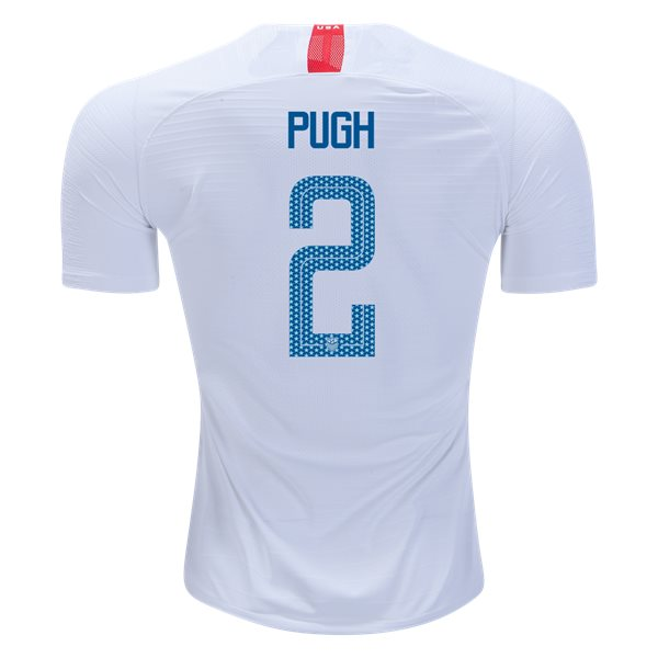 Home Mallory Pugh 18/19 USA Authentic Men's Stadium Jersey