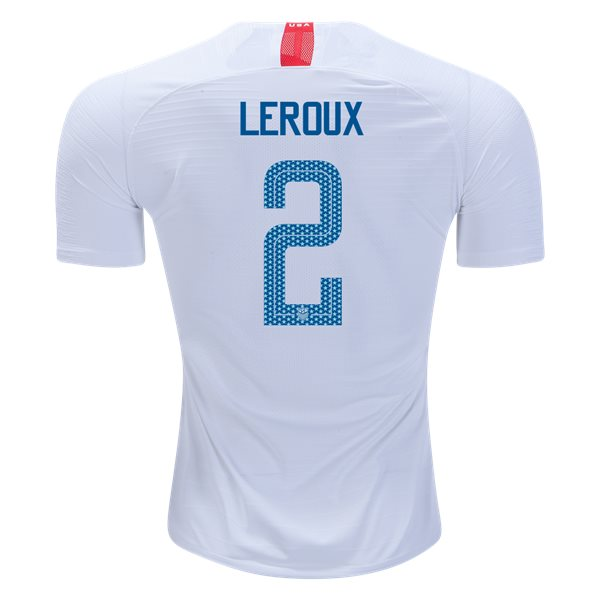 Home Sydney Leroux 2018/19 USA Authentic Men's Stadium Jersey