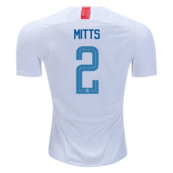 Home Heather Mitts 2018 USA Authentic Men's Stadium Jersey