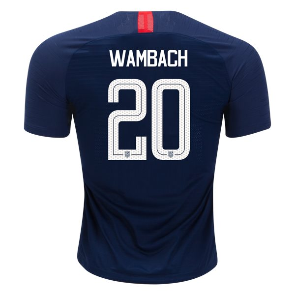 Away Abby Wambach 18/19 USA Authentic Men's Stadium Jersey