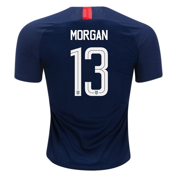 Away Alex Morgan 2018/2019 USA Authentic Men's Stadium Jersey