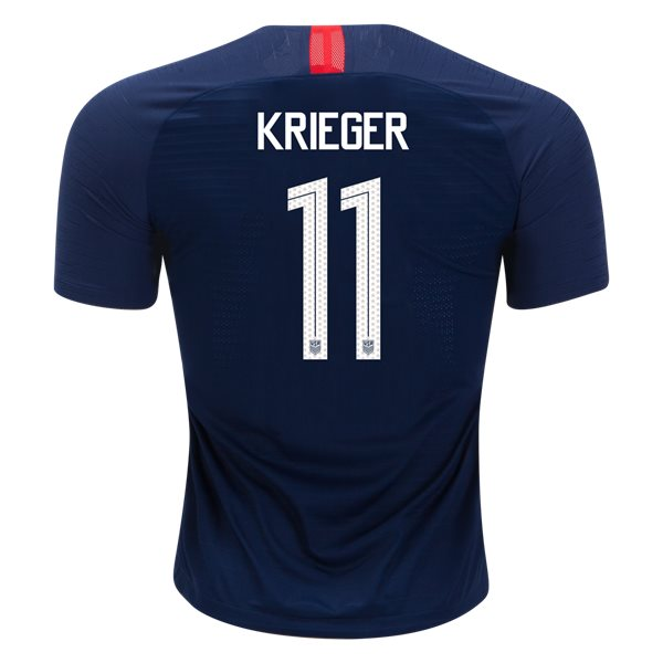 Away Ali Krieger 2018/19 USA Authentic Men's Stadium Jersey