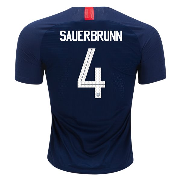 Away Becky Sauerbrunn 2018/2019 USA Authentic Men's Stadium Jersey