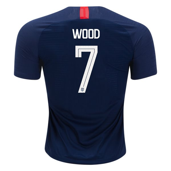 Away Bobby Wood 2018/19 USA Authentic Men's Stadium Jersey