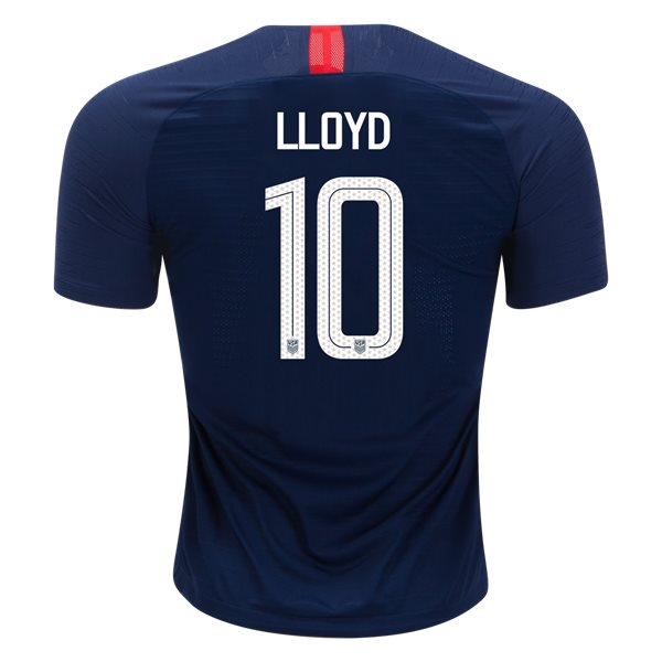 Away Carli Lloyd 2018 USA Authentic Men's Stadium Jersey