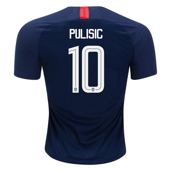 Away Christian Pulisic 2018/2019 USA Authentic Men's Stadium Jersey