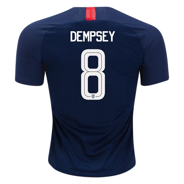 Away Clint Dempsey 2018 USA Authentic Men's Stadium Jersey