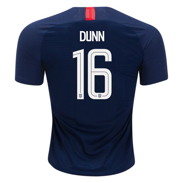 Away Crystal Dunn 18/19 USA Authentic Men's Stadium Jersey