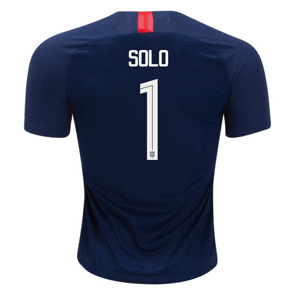 Away Hope Solo 2018/2019 USA Authentic Men's Stadium Jersey
