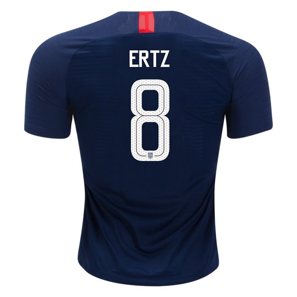 Away Julie Ertz 2018 USA Authentic Men's Stadium Jersey