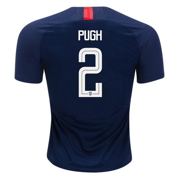 Away Mallory Pugh 2018 USA Authentic Men's Stadium Jersey