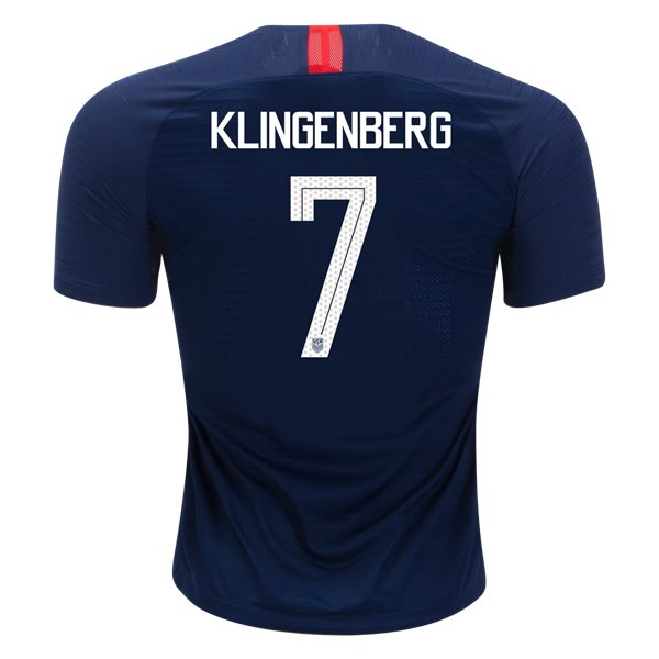Away Meghan Klingenberg 2018/2019 USA Authentic Men's Stadium Jersey