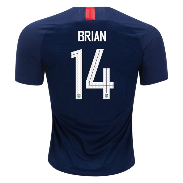 Away Morgan Brian 2018 USA Authentic Men's Stadium Jersey