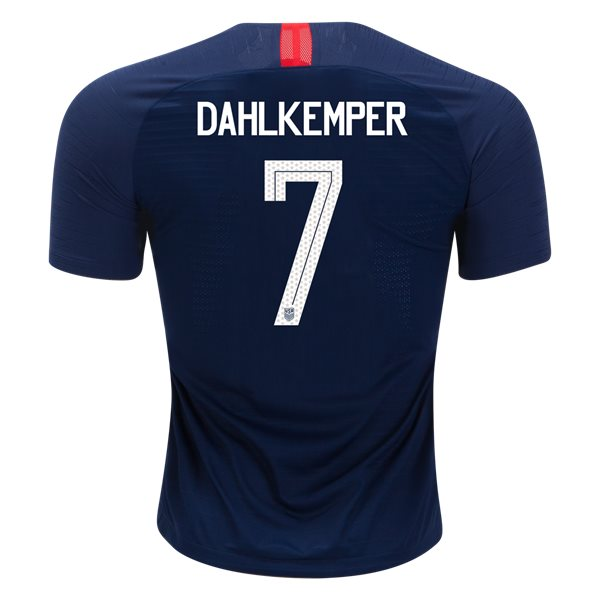 Away Abby Dahlkemper 18/19 USA Authentic Men's Stadium Jersey
