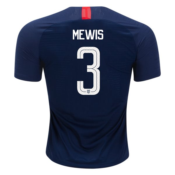 Away Samantha Mewis 2018/2019 USA Authentic Men's Stadium Jersey