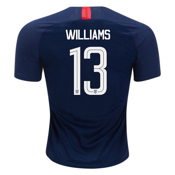 Away Lynn Williams 2018/19 USA Authentic Men's Stadium Jersey