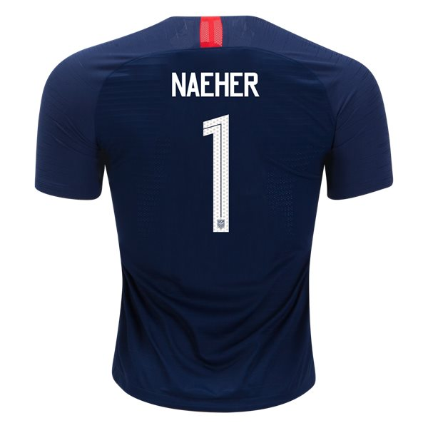 Away Alyssa Naeher 2018/2019 USA Authentic Men's Stadium Jersey