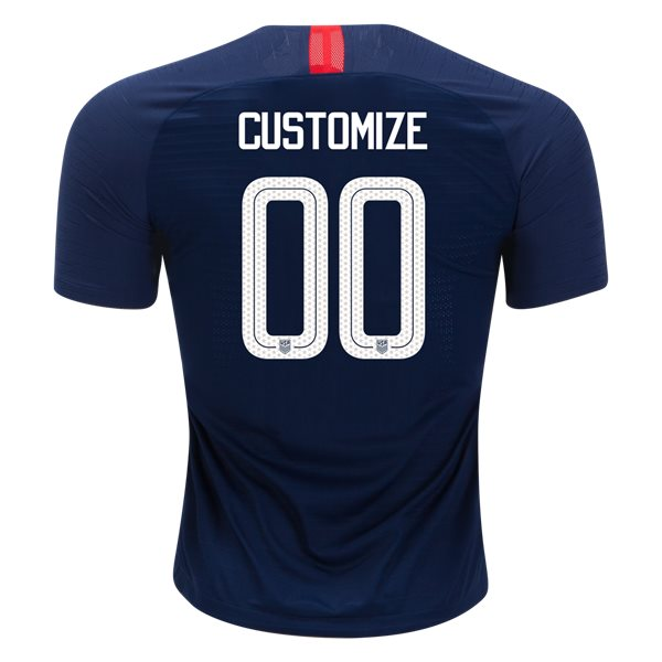 Away Customized 2018/19 USA Authentic Men's Stadium Jersey