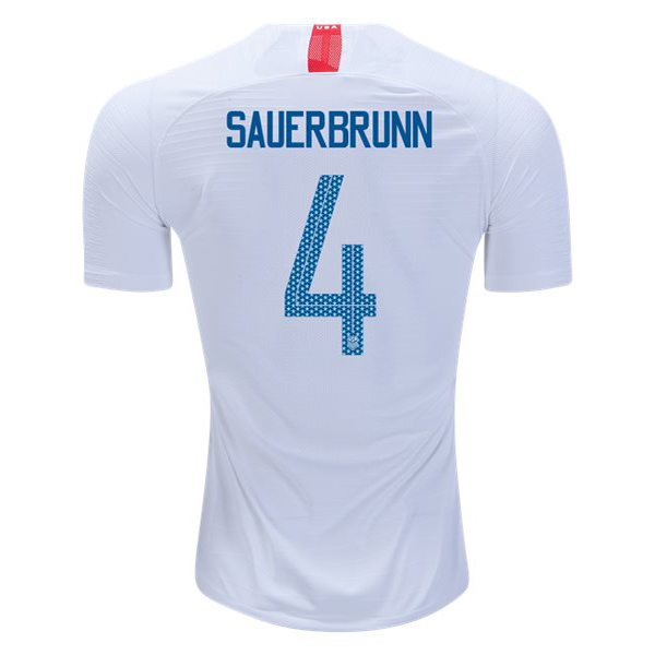 Home Becky Sauerbrunn 18/19 USA Replica Men's Stadium Jersey