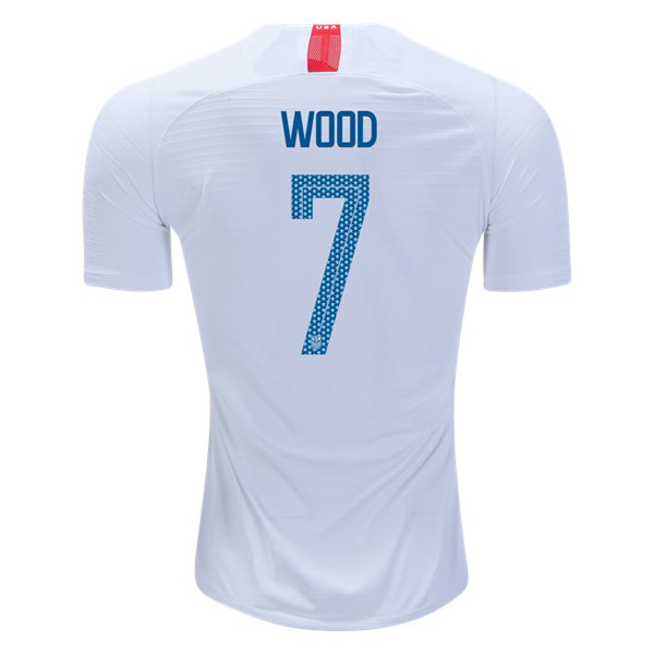 Home Bobby Wood 2018/2019 USA Replica Men's Stadium Jersey