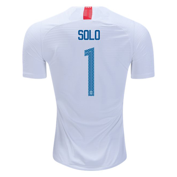 Home Hope Solo 18/19 USA Replica Men's Stadium Jersey